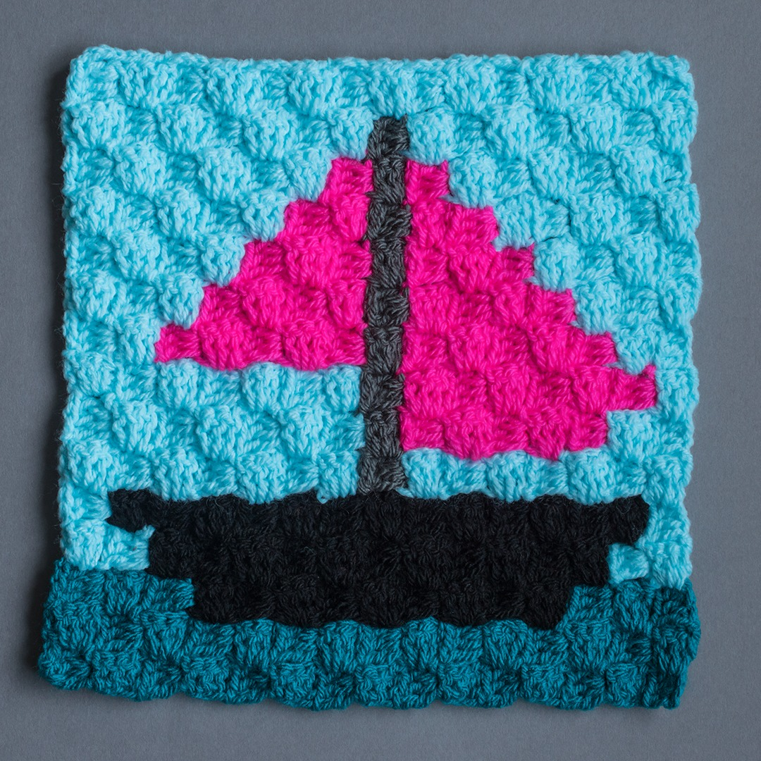 boat crochet square