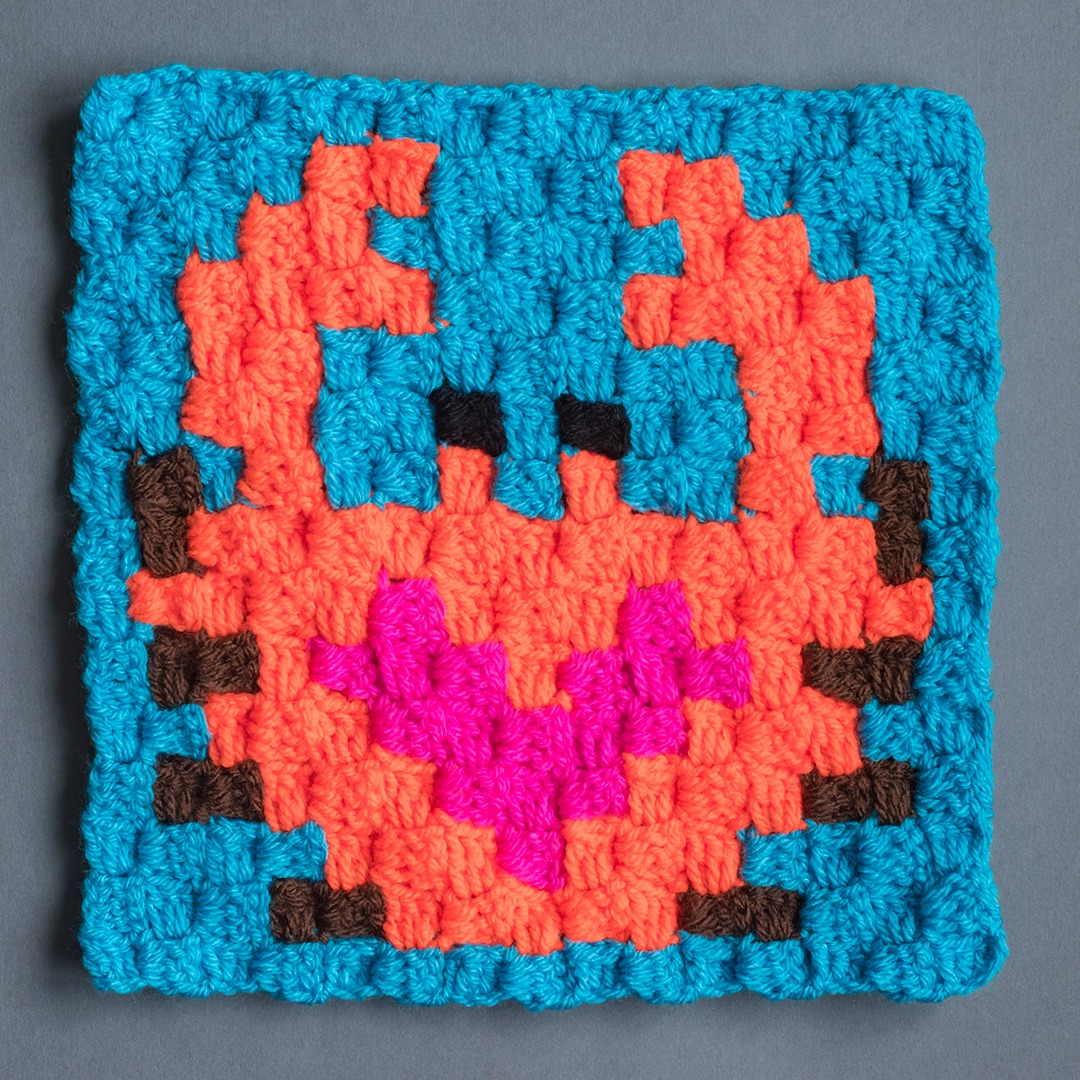 crab crochet square