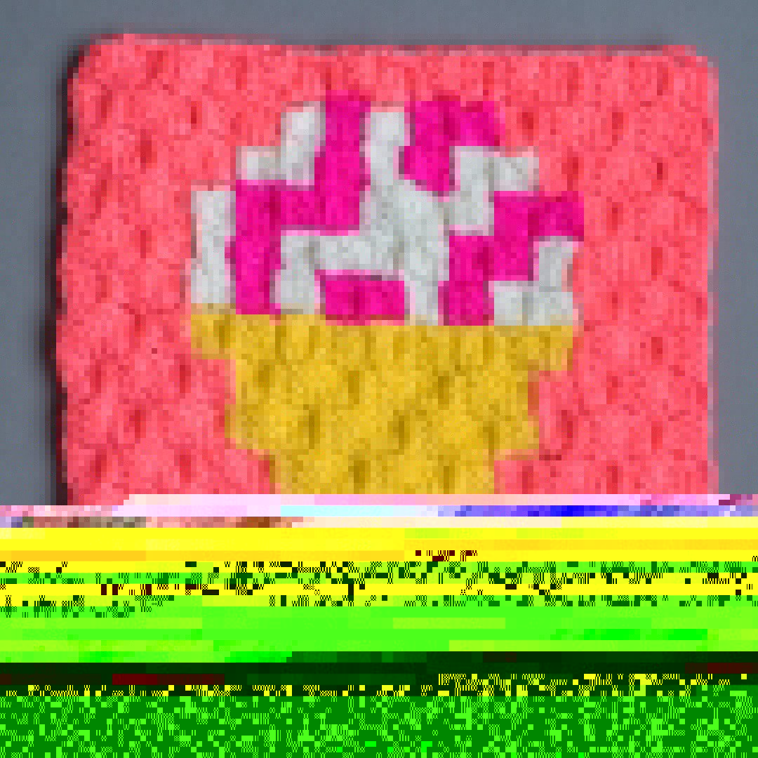 raspberry ripple ice-cream crochet square