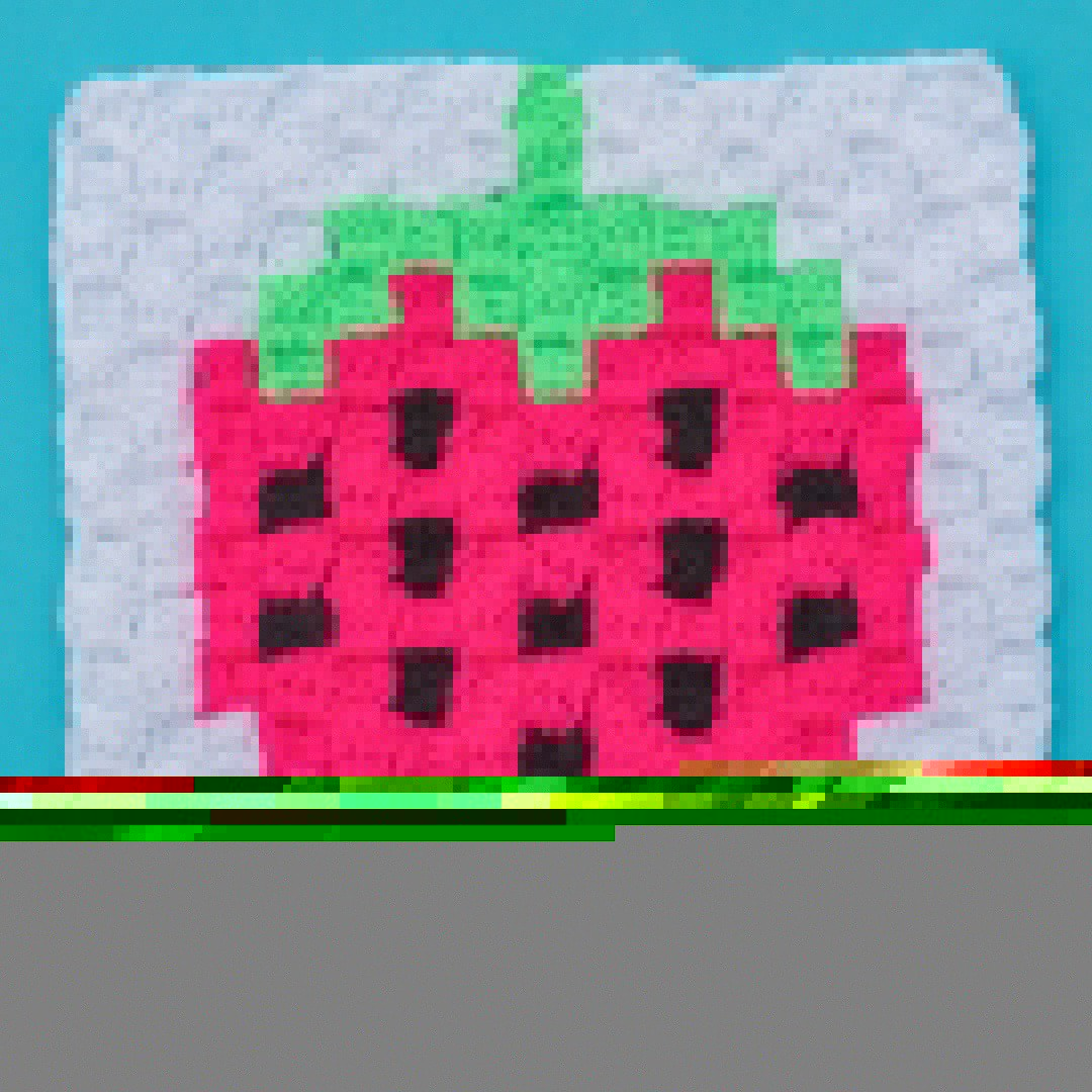 strawberry crochet c2c free graph chart