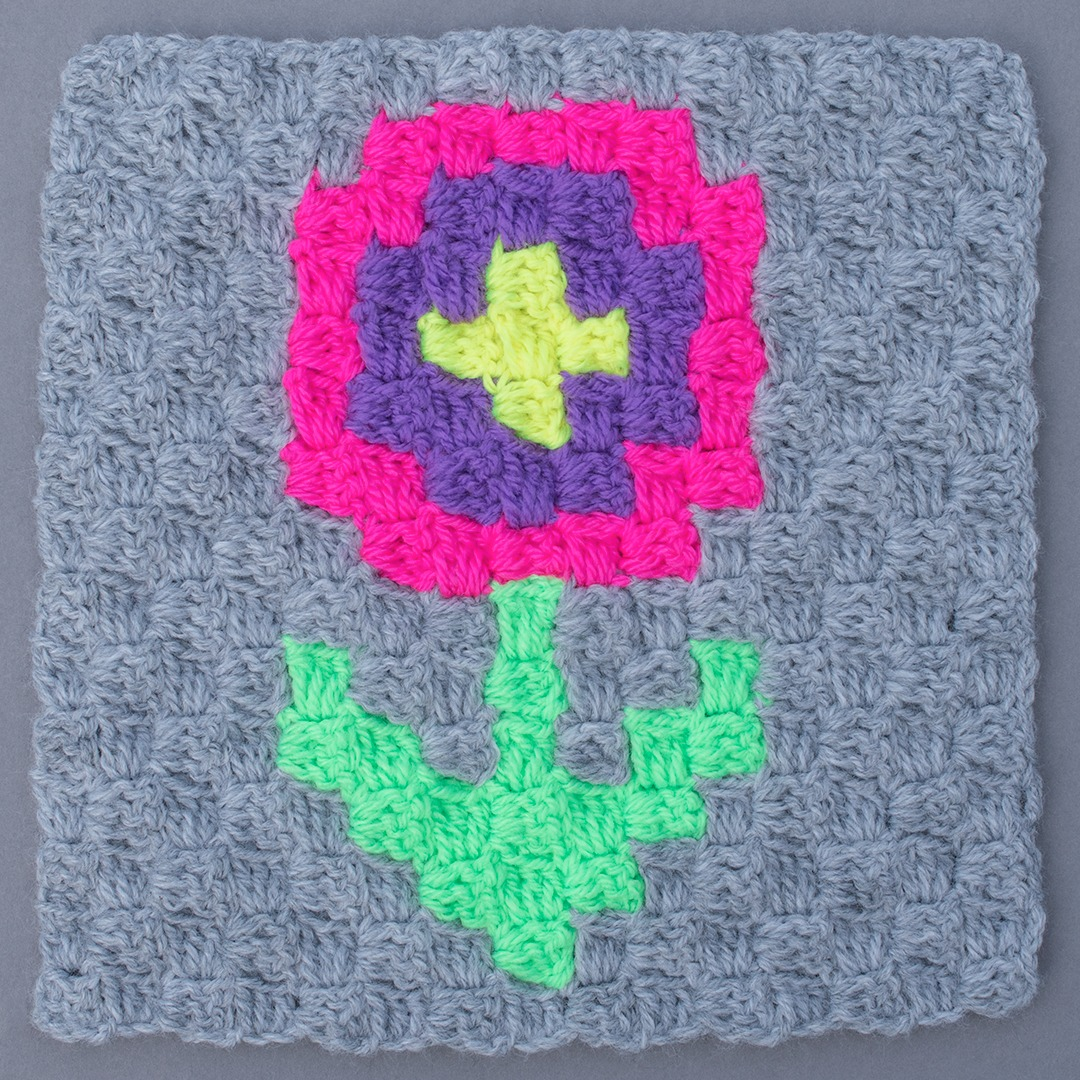 FLOWER CROCHET SQUARE
